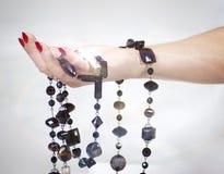 Decoração a brilhar na mão Fotografia de Stock