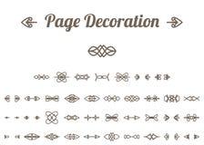 Decoração caligráfica da página Fotografia de Stock Royalty Free