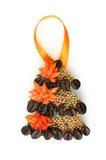 Decoração caseiro na árvore de Natal Fotografia de Stock Royalty Free