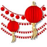 Decoração chinesa ilustração stock