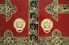 Decoração chinesa da porta Fotografia de Stock Royalty Free