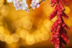 A decoração chinesa de ano novo