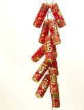 Decoração chinesa do ano novo, biscoitos do fogo Fotografia de Stock