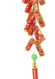 Decoração chinesa do ano novo, biscoitos do fogo Imagens de Stock