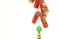 Decoração chinesa do ano novo, biscoitos do fogo Imagens de Stock Royalty Free