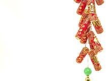 Decoração chinesa do ano novo, biscoitos do fogo Imagem de Stock Royalty Free