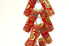 Decoração chinesa do ano novo, biscoitos do fogo Fotos de Stock Royalty Free