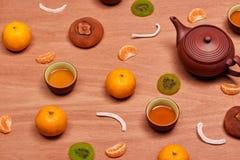 Decoração chinesa do ano novo tradicional com cultura asiática foto de stock