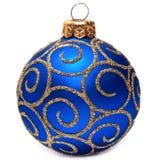 Decoração clássica do feriado do bauble do ano novo feliz da bola do Natal Fotos de Stock Royalty Free