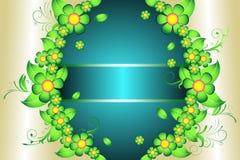 Decoração clássica floral ilustração stock