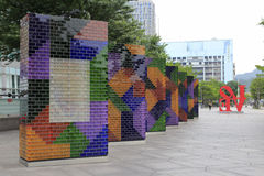 Decoração colorida da parede da cidade Fotografia de Stock Royalty Free