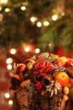 Decoração colorida do Natal foto de stock