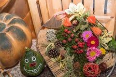 Decoração colorida do outono - close up fotos de stock royalty free