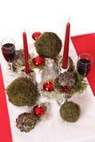 Decoração com velas, mo da tabela Foto de Stock Royalty Free