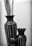 Decoração contemporânea da arte do vaso em preto e branco Foto de Stock
