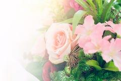 Decoração cor-de-rosa do casamento imagem de stock