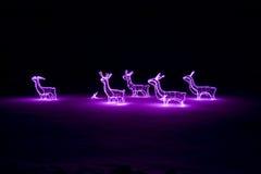 Decoração cor-de-rosa do Natal Foto de Stock Royalty Free