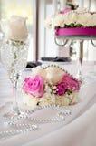 Decoração cor-de-rosa no casamento Foto de Stock Royalty Free