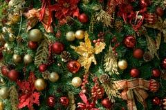 A decoração da árvore de Chrismas Fotos de Stock Royalty Free