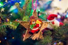 Decoração da árvore de Natal Fotos de Stock Royalty Free