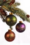 Decoração da árvore de Natal fotos de stock