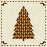 Decoração da árvore de Natal ilustração royalty free