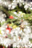 Decoração da árvore de Natal da estrela Foto de Stock