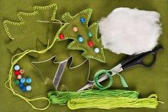 Decoração da árvore de Natal de feltro Imagem de Stock Royalty Free