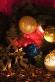 Decoração da árvore de Natal do detalhe Fotografia de Stock