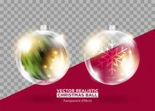 Decoração da árvore de Natal Quinquilharia do Xmas do vetor Ilustração Stock