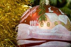 Decoração da árvore de Novo-Ano Foto de Stock Royalty Free