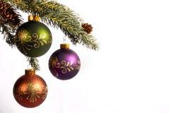 Decoração da árvore do feriado do Xmas fotos de stock royalty free