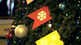 decoração da árvore do xmas vídeos de arquivo