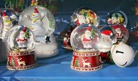 Decoração da abóbada da neve de Santa Fotos de Stock Royalty Free
