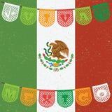 Decoração da bandeira mexicana Fotos de Stock Royalty Free