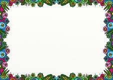 Decoração da beira da página da garatuja da mola ilustração do vetor