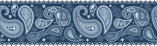 Decoração da beira de Paisley ilustração royalty free
