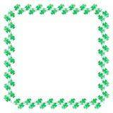 Decoração da beira do trevo para o dia de Patrick's de Saint Fotos de Stock Royalty Free