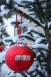 Decoração da bola do ano novo do GRUPO de LSR Imagens de Stock Royalty Free