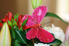 Decoração da borboleta no casamento. Imagens de Stock