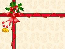 Decoração da caixa de presente do Natal Ilustração Royalty Free