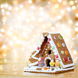 Decoração da casa de pão-de-espécie do Natal Imagem de Stock