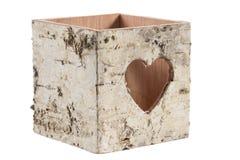 Decoração da casca de árvore com coração Imagem de Stock Royalty Free
