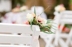 A decoração da cerimônia de casamento Imagem de Stock