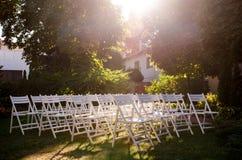 A decoração da cerimônia de casamento Foto de Stock