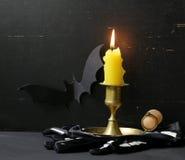 A decoração da composição para Dia das Bruxas Fotografia de Stock