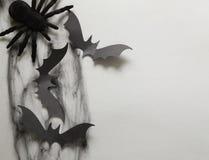 A decoração da composição para Dia das Bruxas Fotos de Stock Royalty Free
