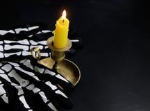 A decoração da composição para Dia das Bruxas Foto de Stock