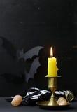 A decoração da composição para Dia das Bruxas Imagem de Stock