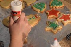 Decoração da cookie Fotografia de Stock Royalty Free
